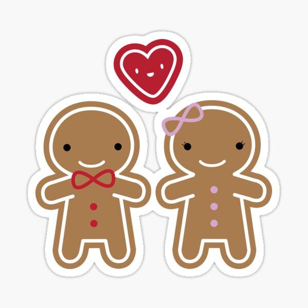 Cookie Cute Gingerbread Couple Sticker