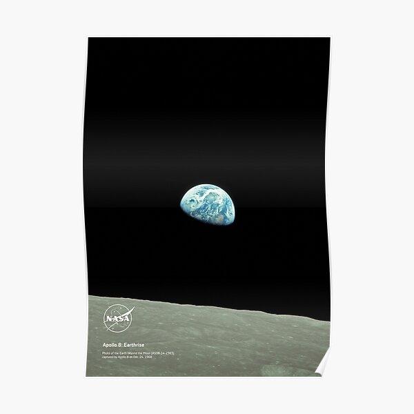 NASA Apollo 8: Earthrise Poster