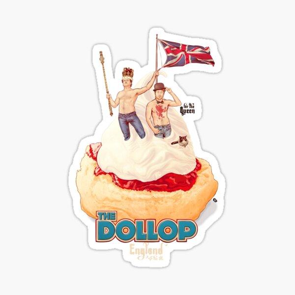 DOLLOP England & the UK: Scone & Jam Sticker