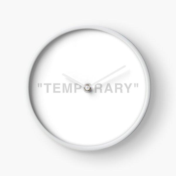 """""""Temporary"""" Quotation Marks  Clock"""