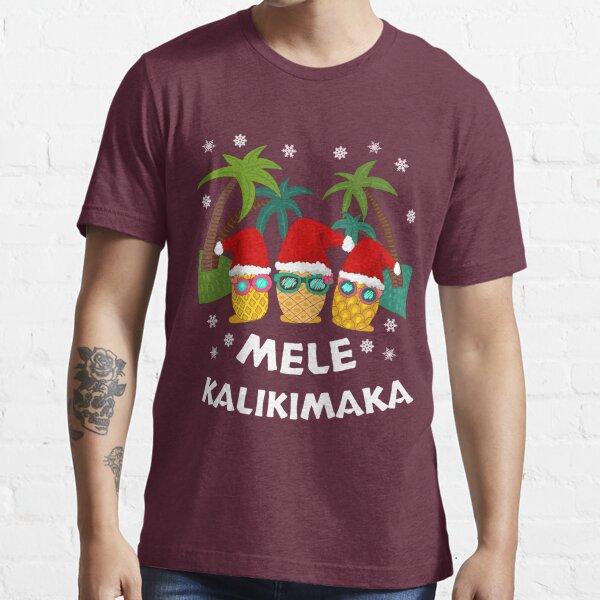 Mele Kalikimaka - Christmas Vacation - Hawaiian Santa Christmas Essential T-Shirt