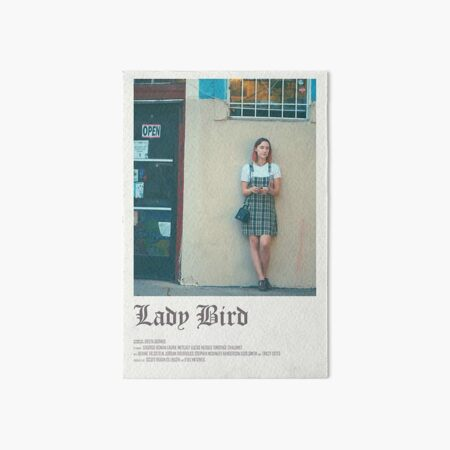 lady bird movie -  Art Board Print
