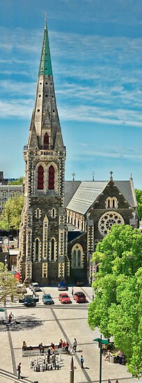 Christchurch Cathedral Spire by Phoxford
