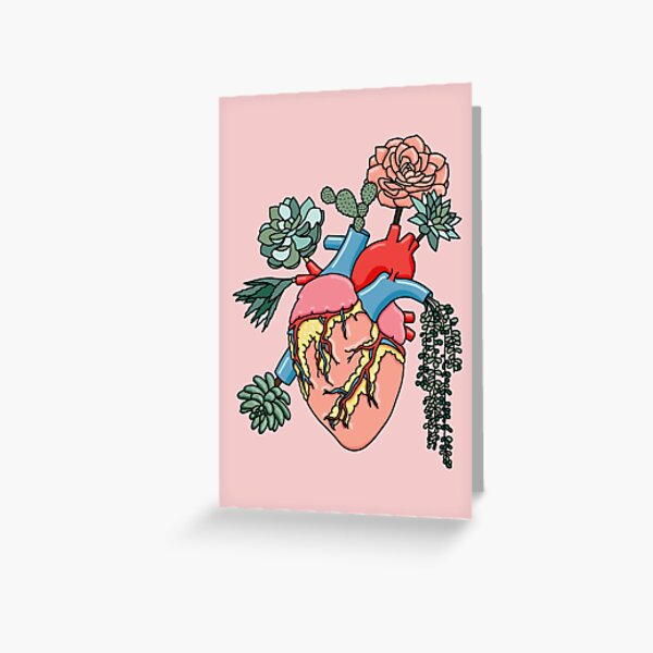 Succulent heart by Sasa Elebea Greeting Card