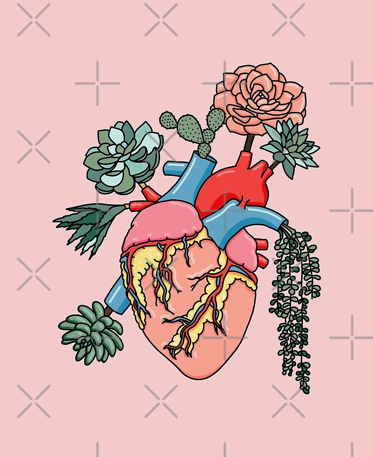 Succulent Heart by Sasa Elebea Suitable for Any Mobile Phone Three in One Data Line