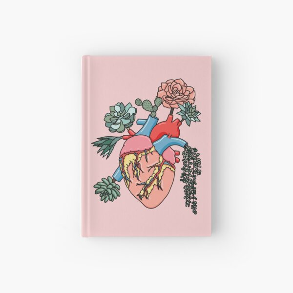 Succulent heart by Sasa Elebea Hardcover Journal