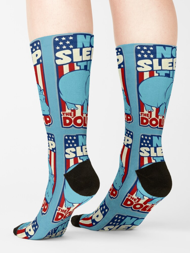 Alternate view of DOLLOP: No Sleep Til Hippo (simple) Socks