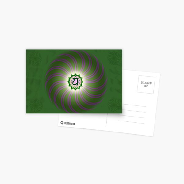 Heart Chakra ~ Green ~ Anahata ~ Male Postcard