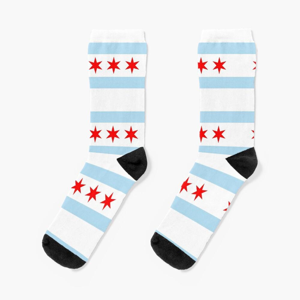 Flag of Chicago Socks