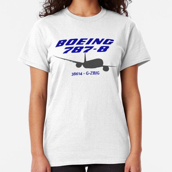 Boeing 787-8 38614 G-ZBJG (Black Print) Classic T-Shirt