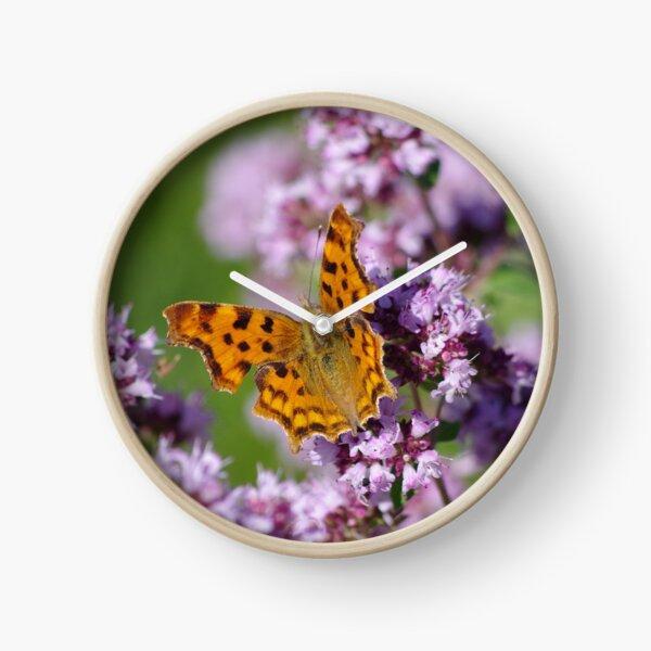 Comma Butterfly  Clock