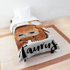 Taurus Meow Cat Zodiac Sign Comforter