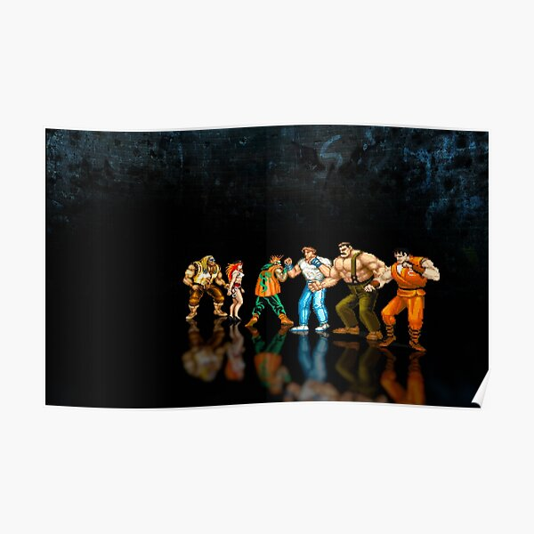 Final Fight - Pixel art Poster