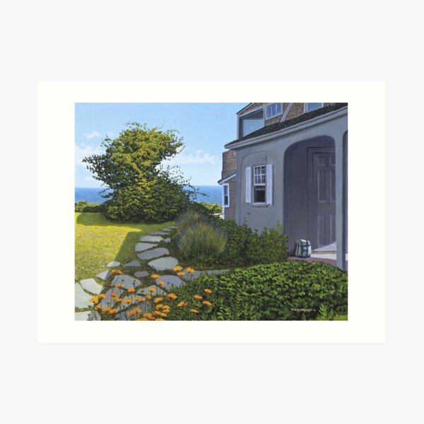 """Cape Cod Cottage"" by Reed Prescott Art Print"