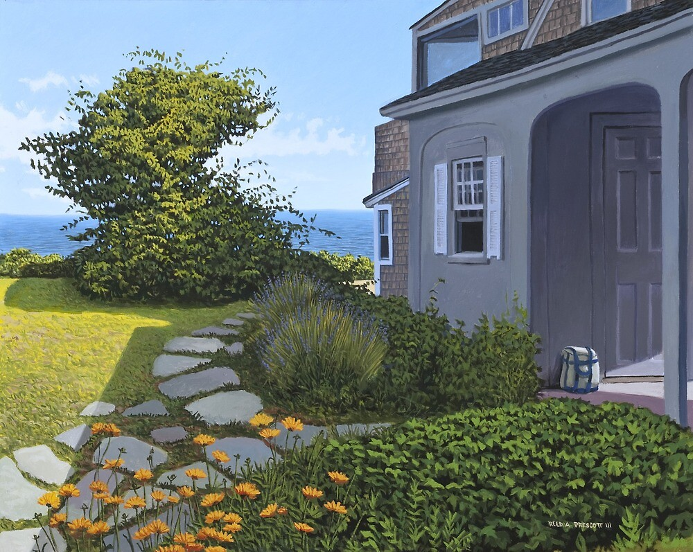 """Cape Cod Cottage"" by Reed Prescott by Reed Prescott"