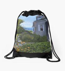 """Cape Cod Cottage"" by Reed Prescott Drawstring Bag"