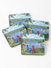 """Harbor View"" by Reed Prescott Coasters"