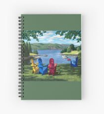 """""""Harbor View"""" by Reed Prescott Spiral Notebook"""