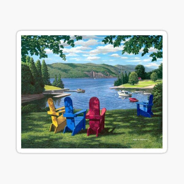 """Harbor View"" by Reed Prescott Sticker"