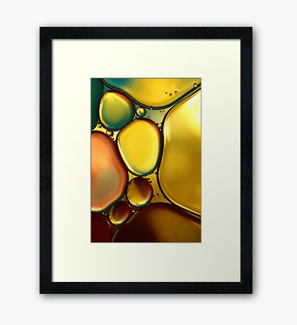 Oil & Water Abstract II Framed Print