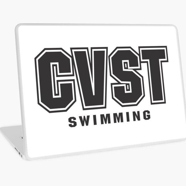 CVST Swimming Black Logo Laptop Skin