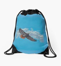 """""""Freedom on the Wing"""" Red tailed Hawk in Flight Drawstring Bag"""