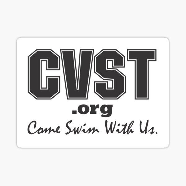 Come Swim With Us Black Logo Sticker