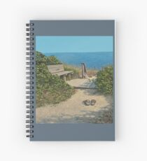 """""""Tides In"""" Original Oil painting by Reed A Prescott III Spiral Notebook"""