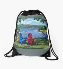 """Harbor View"" by Reed Prescott Drawstring Bag"