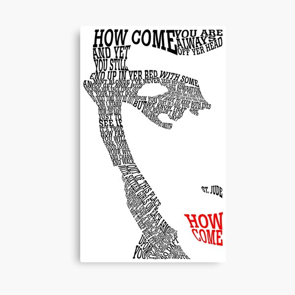 Courteeners ➤ How Come Canvas Print