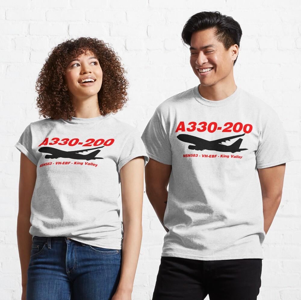 Airbus A330-200 583 VH-EBF (Black)  Classic T-Shirt