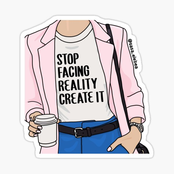 Reality by Sasa Elebea Sticker