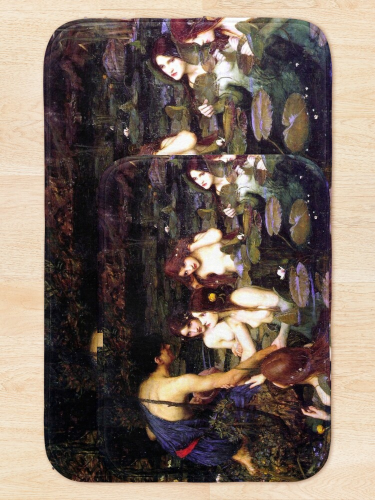 Alternate view of Hylas and the Nymphs - John William Waterhouse  Bath Mat