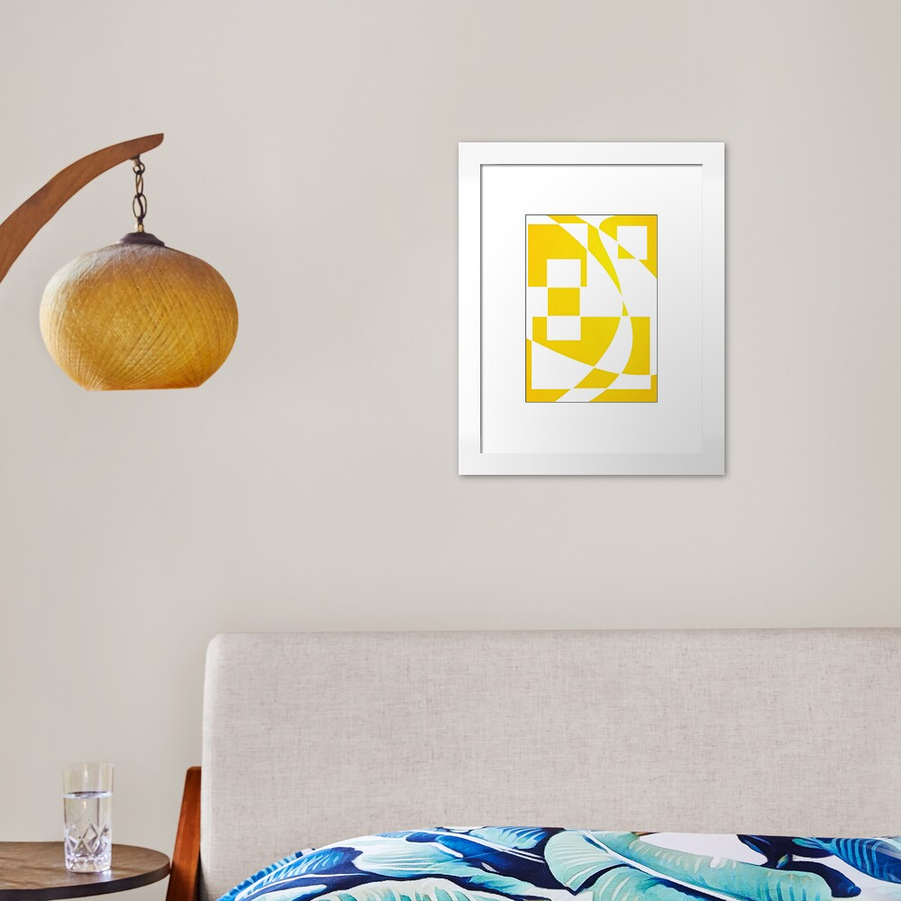 Window & Light, Abstract (Designed by Just Stories) Framed Art Print