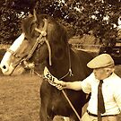 Shire Horse and handler by Alastair