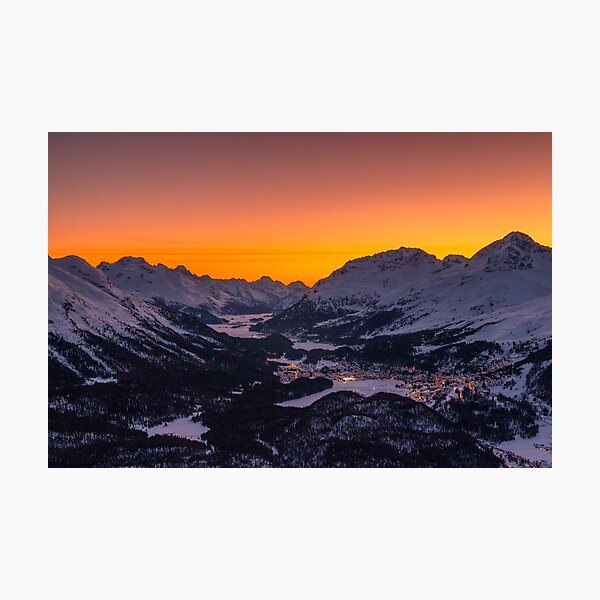 Sunset in the Engadin Photographic Print