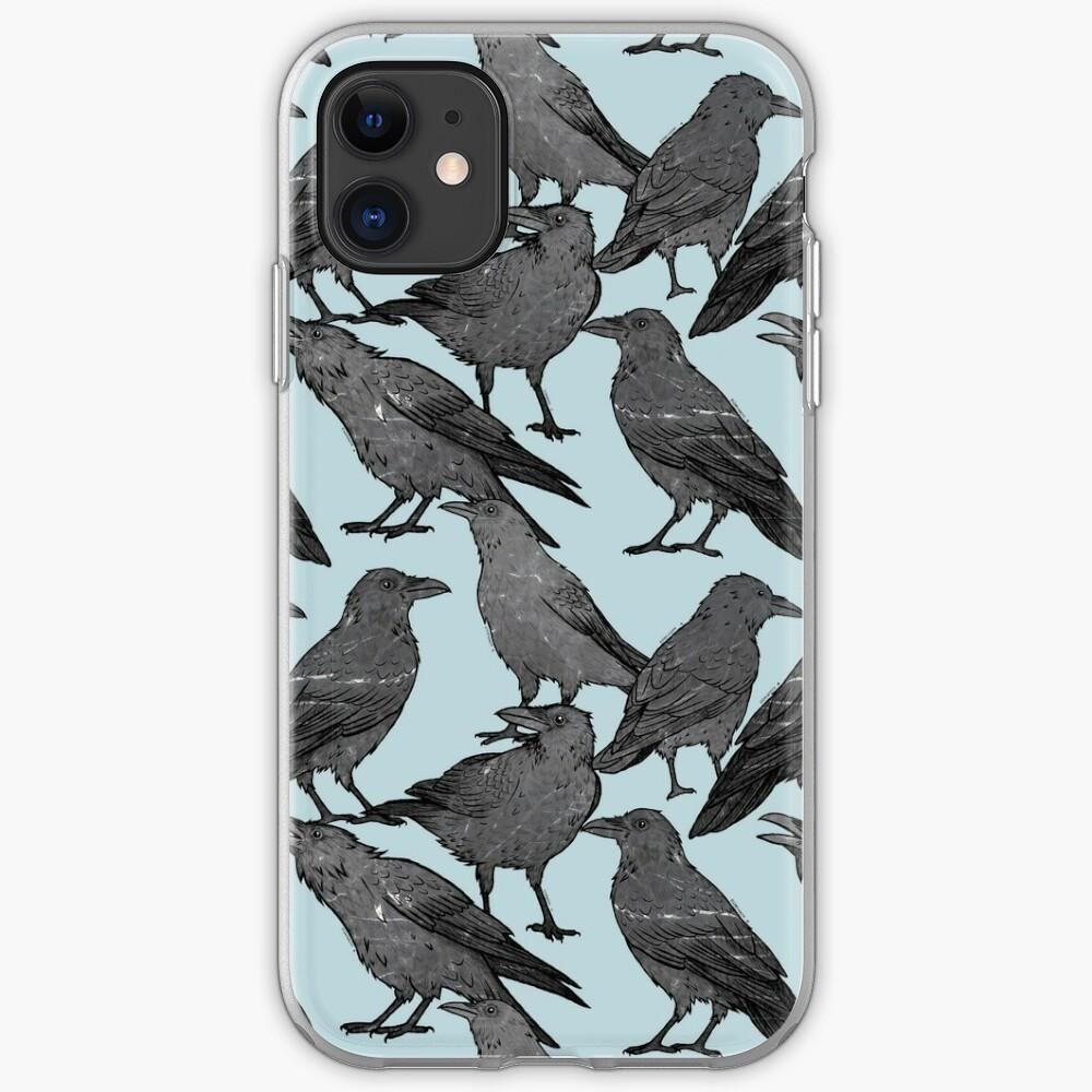 Nettes Krähenmuster iPhone-Hülle & Cover