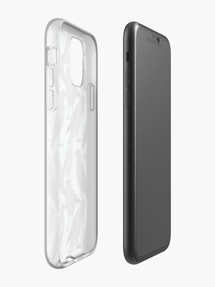 Alternative Ansicht von Nettes Krähenmuster iPhone-Hülle & Cover