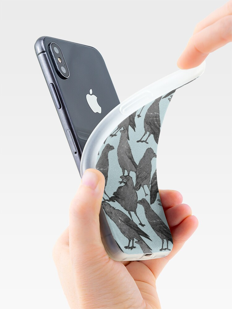 Alternate view of Cute crow pattern iPhone Case & Cover