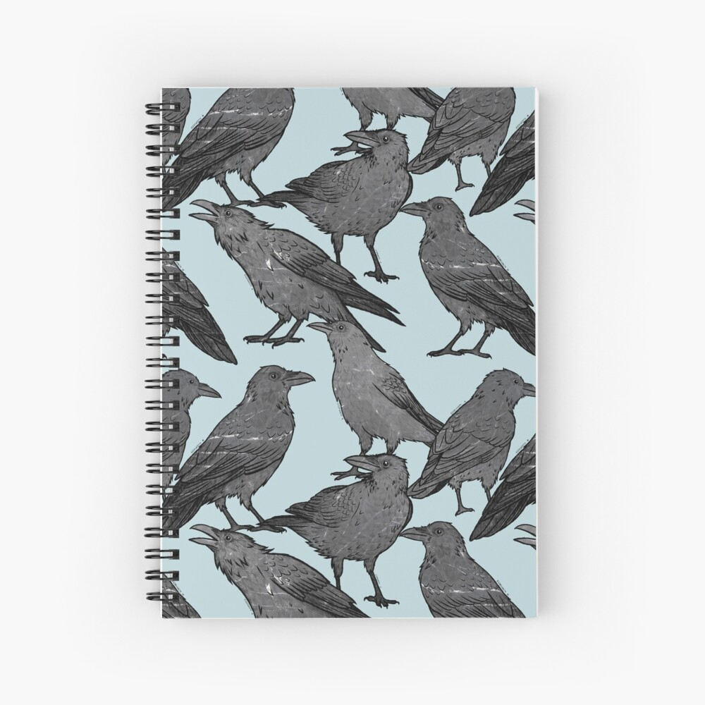 Cute crow pattern Spiral Notebook