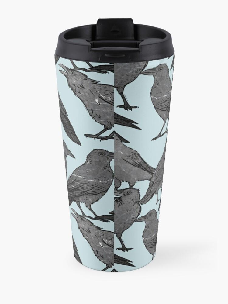Alternate view of Cute crow pattern Travel Mug