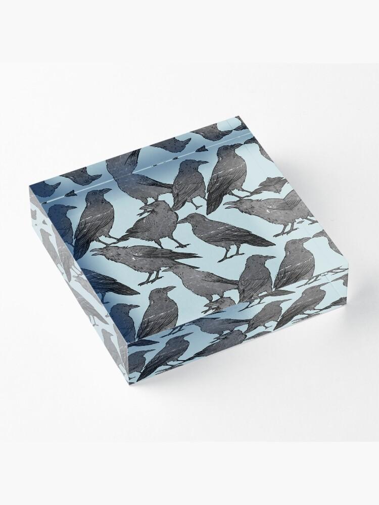 Alternate view of Cute crow pattern Acrylic Block