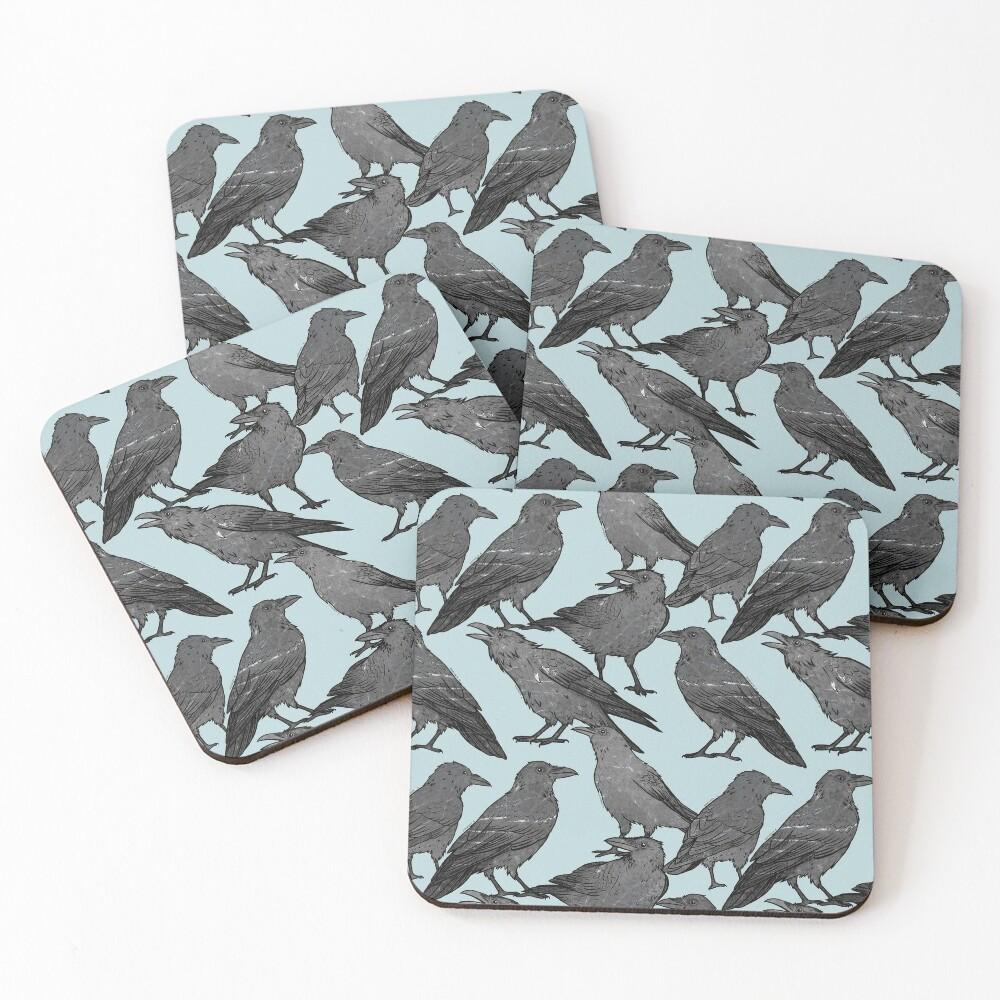 Cute crow pattern Coasters (Set of 4)