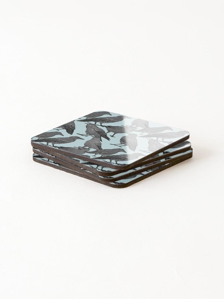 Alternate view of Cute crow pattern Coasters (Set of 4)