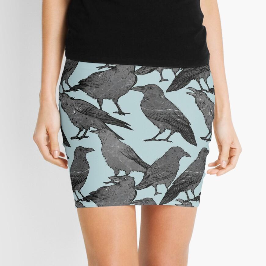 Cute crow pattern Mini Skirt