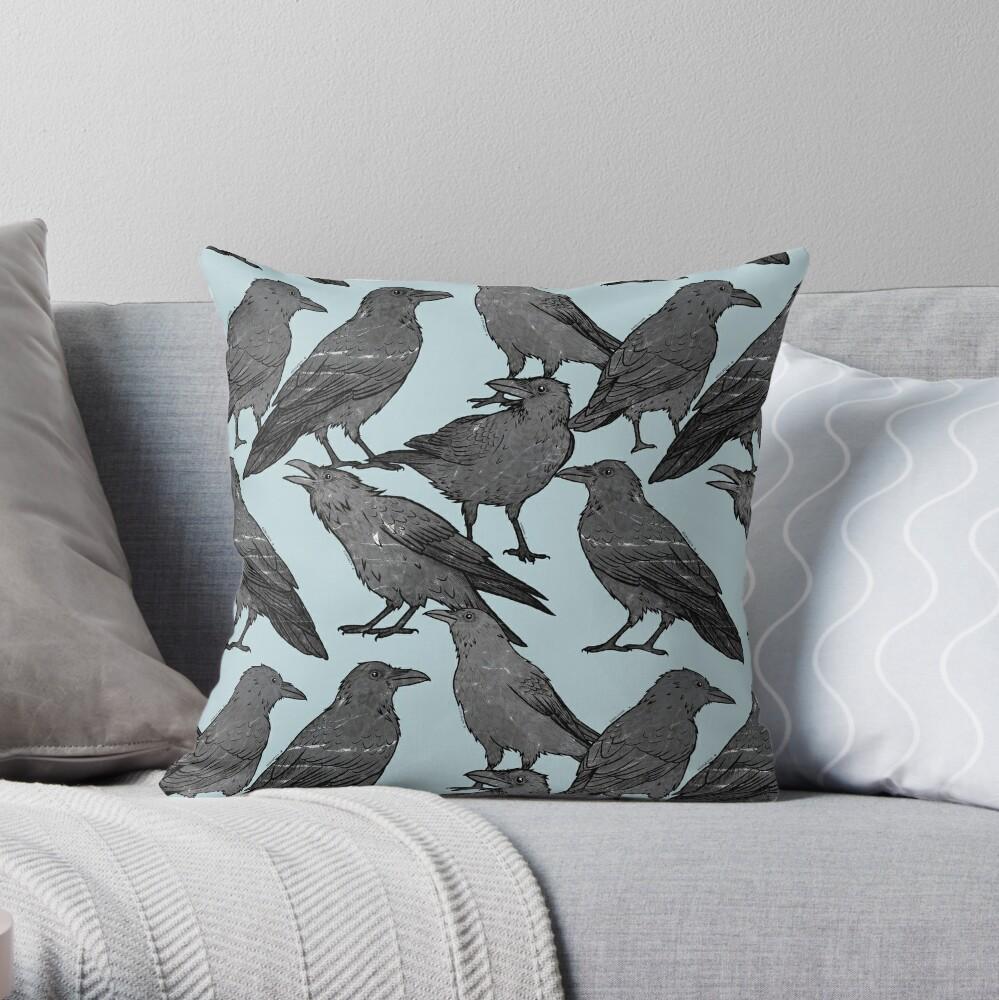 Cute crow pattern Throw Pillow