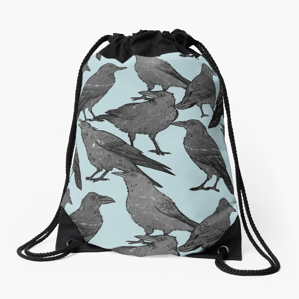 Cute crow pattern Drawstring Bag