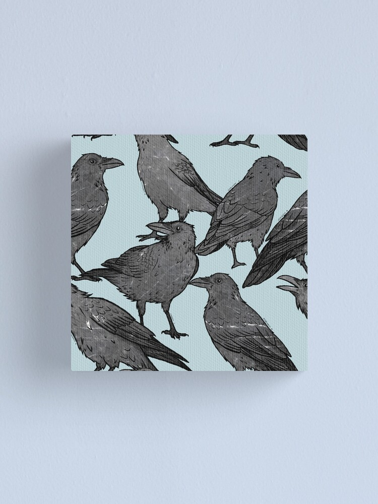 Alternate view of Cute crow pattern Canvas Print