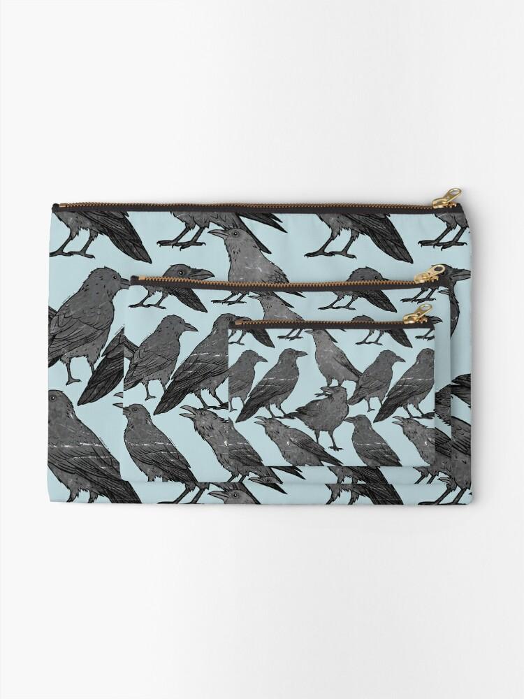 Alternate view of Cute crow pattern Zipper Pouch