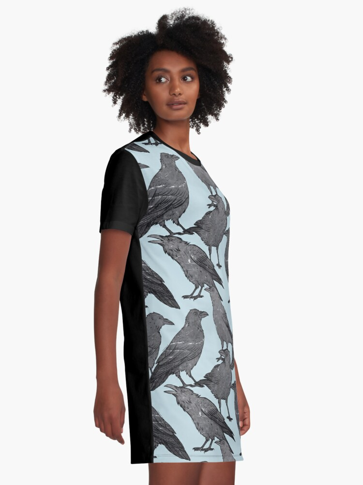 Alternate view of Cute crow pattern Graphic T-Shirt Dress